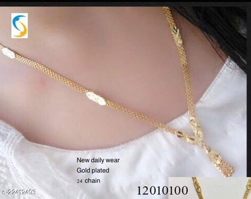 simple sobber chain daily wear long chain