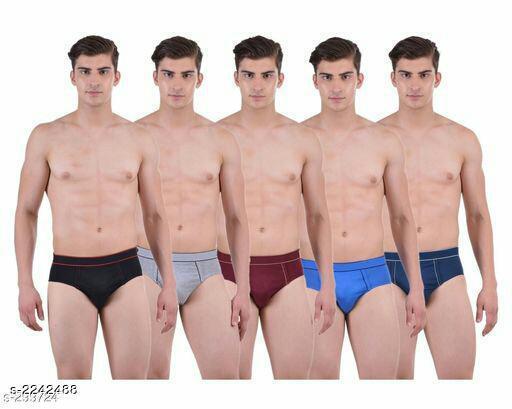 Comfy Men's Cotton Briefs (Pack Of 5)