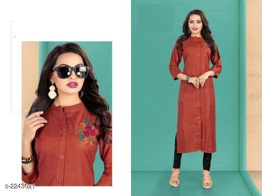 Stylish Ruby Silk Women's Kurti