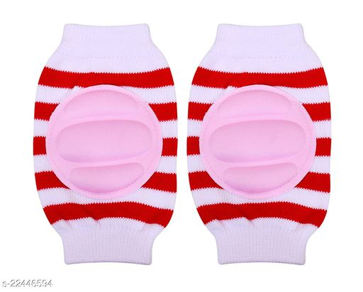 Momscape Baby Knee Pads for Crawling, Anti-Slip Padded Stretchable Elastic Cotton Soft Breathable Comfortable Knee Cap/ Elbow Safety Protector (White)