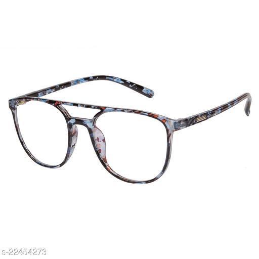 LOF Lepord Blue Anti Reflective Coating Square Men Spectacle Frame (LF-1813_5 I50I Transparent Color Lens)