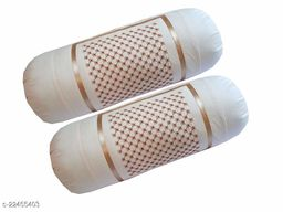 HK Collection Latest Stone Design Cotton Bolster Cover (Set of 2 Pieces)
