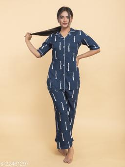 Women rayon night suit set