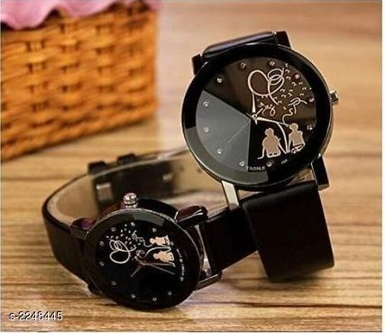Antique Analog Couple Watches (Pack Of 2)