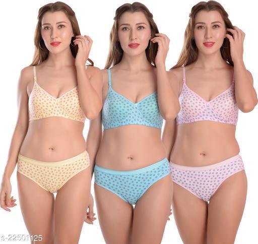 Women's Polka Dot Cotton Lingerie Sets