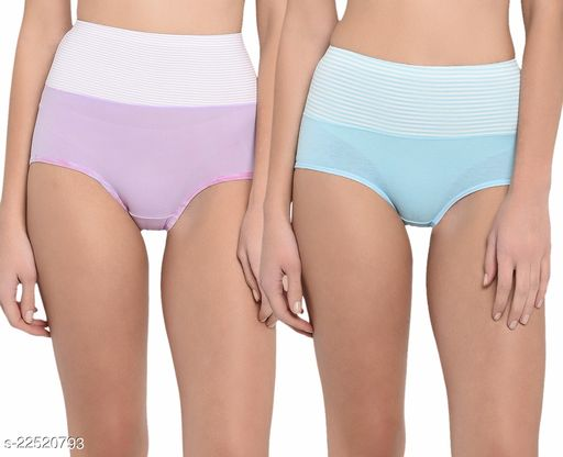 Women Hipster Aqua Blue Cotton Panty (Pack of 2)