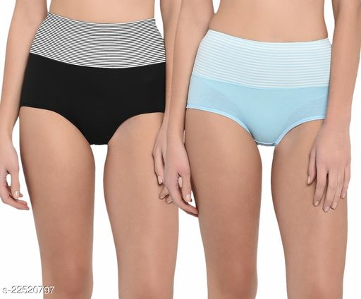 Women Hipster Blue Cotton Panty (Pack of 2)
