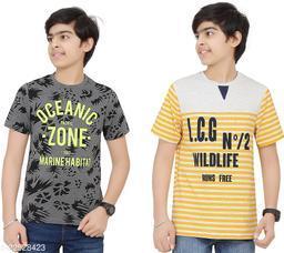 RHYTHM Boys Printed T-shirt (Pack of 2)