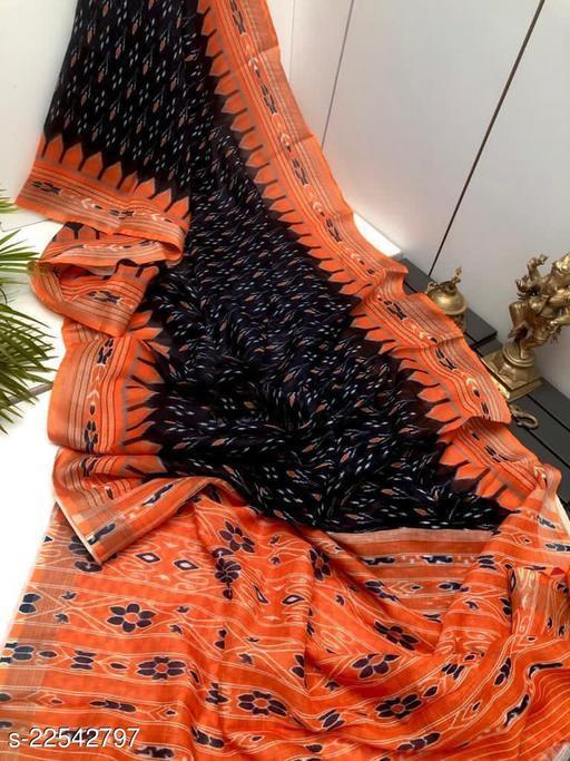 Summer special Linen With Silver Jari Patta