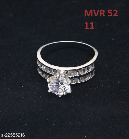 Jewelry Latest Design Enamel Work Ring Round Pearl,Cubic Zircon White Intricately Handcrafted in 14K Gold Plated Hand Jewellery for Girls Ladies Women MVR 52-WP