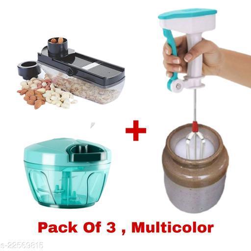 MultiPurpose Of Vegetable Chopper And Hand Blender And Dryfruit Slicer (Pack Of 3)