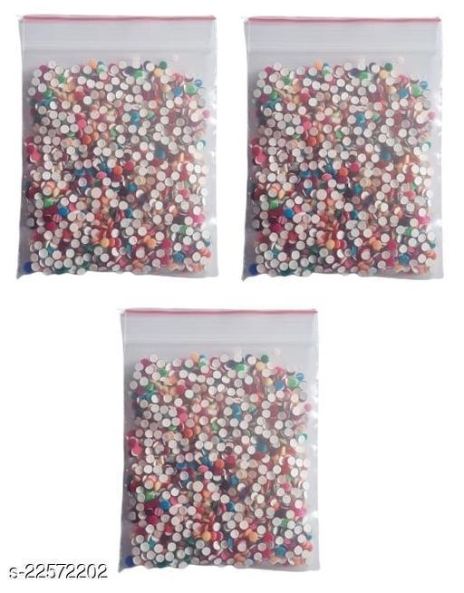 Indirang Pack of 200pcs Colorful Bindi - Pack of 3