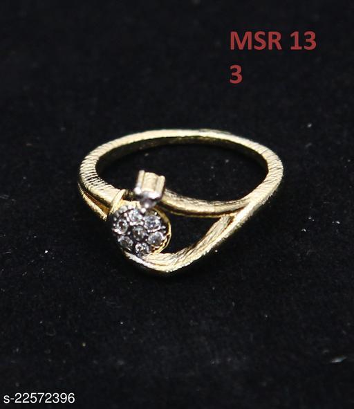 Beautiful Design Polki Ring Oval Cubic Zircon White Indian Handmade Gold Plated Stylish Jewellery for Girls Ladies Women MSR 13