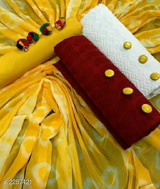 Stylish Fancy Cotton Suit & Dress Material
