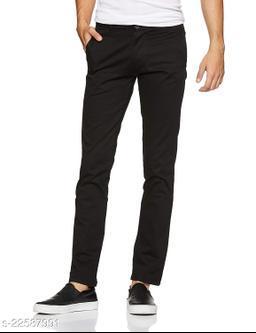 Trendy Men's Regular Fit Cotton Blend Black Trousers/ Pant/ Office Wear/ Formal Wear