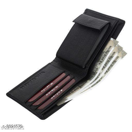 Trendy Men's Black PU Wallet