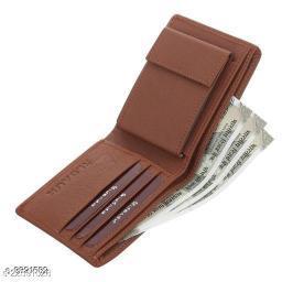 Trendy Men's Brown PU Wallet
