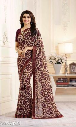 Pretty Chiffon Printed Saree