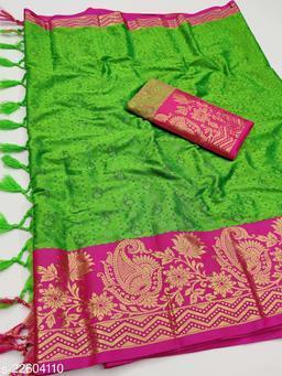 Fancy Soft Paithani Aura cotton silk saree with Jacquard weaving work