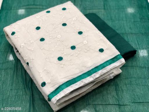 Semi Modal Full Embroidery Work Dress Material