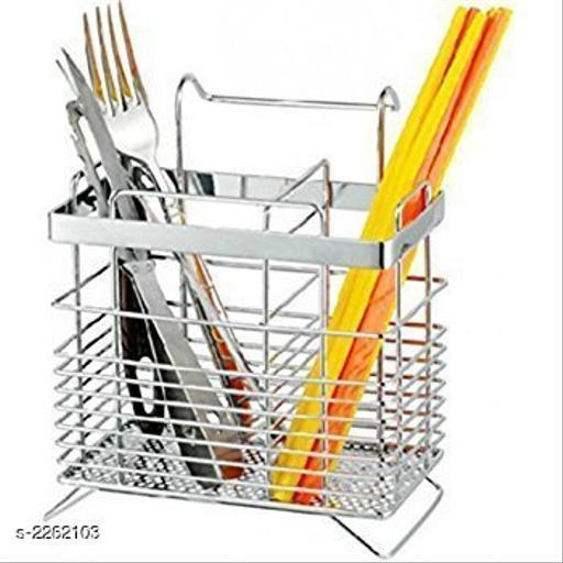 Unique Hanging/Utensil Drying Rack/Chopsticks Rack/Spoon Holder/Spoon Steel Stand/Fork Holder/Knife Drainer/Steel Basket/Storage Drainer