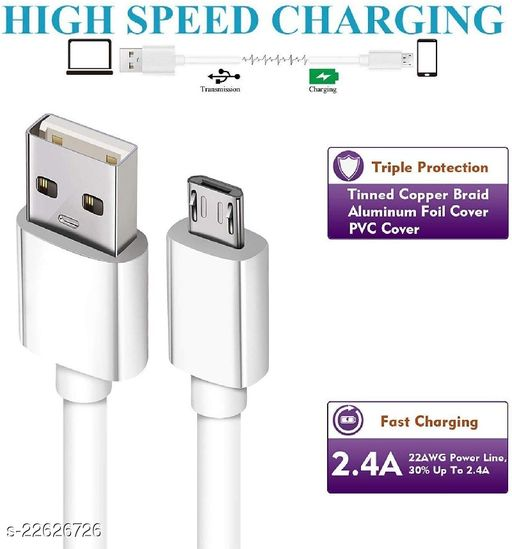 Micro USB Fast Charging Cable all Smart Phone Support