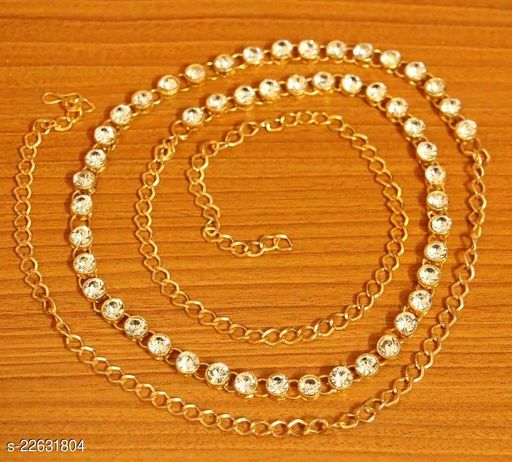 ZaffreCollections Kamarband, kamarpatta, waist Chain, tagdi 1-line Stone Gold Polish Waist Belt for Women and  Girls