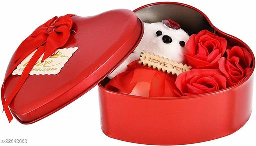 Ni&Mee Heart Red Rose Box (Pack of 1)