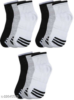 unique Ankle Premium Quality Socks Style B (Pack of 9)