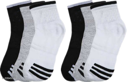 unique Ankle Premium Quality Socks Style B (Pack of 6)