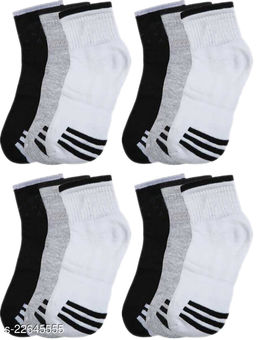 unique Ankle Premium Quality Socks Style B (Pack of 12)