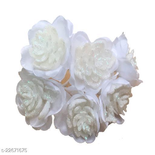 GadinFashion™ Artificial  Flower Hair Pin/Juda Pin For Wedding Women/Girls Pack-06,Color-Multi