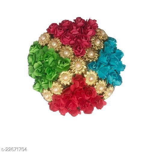 GadinFashion™ Artificial  Flower Juda/Bun  For Women/Girls ,(Pack -01,Color-Multi)