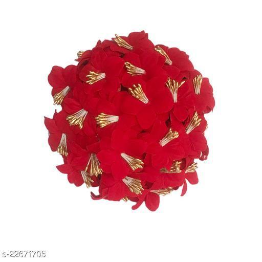 GadinFashion™ Artificial  Flower Juda/Bun  For Women/Girls ,(Pack -01,Color-Red)