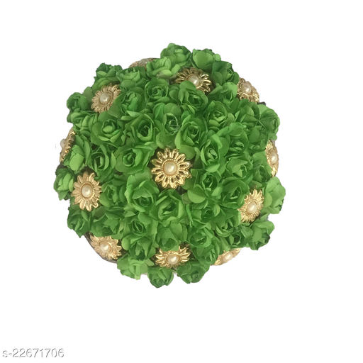 GadinFashion™ Artificial  Flower Juda/Bun  For Women/Girls ,(Pack -01,Color-Green)