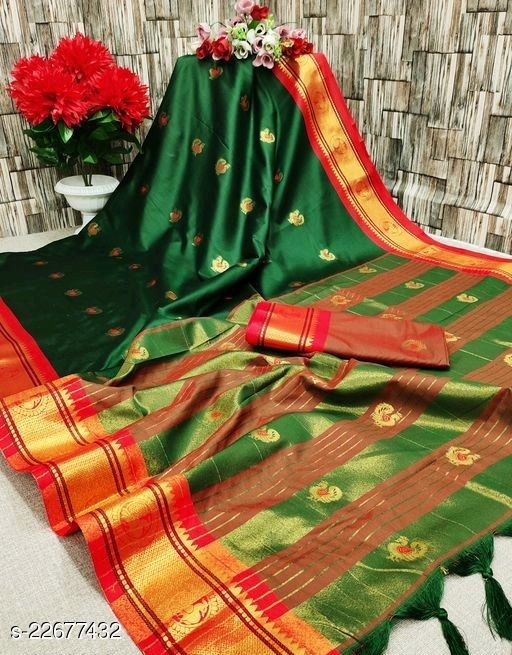 Paithani Silk Soft silk Traditional Nauvari ,nath, Chikankari, Saree with mundu , Langa voni saree