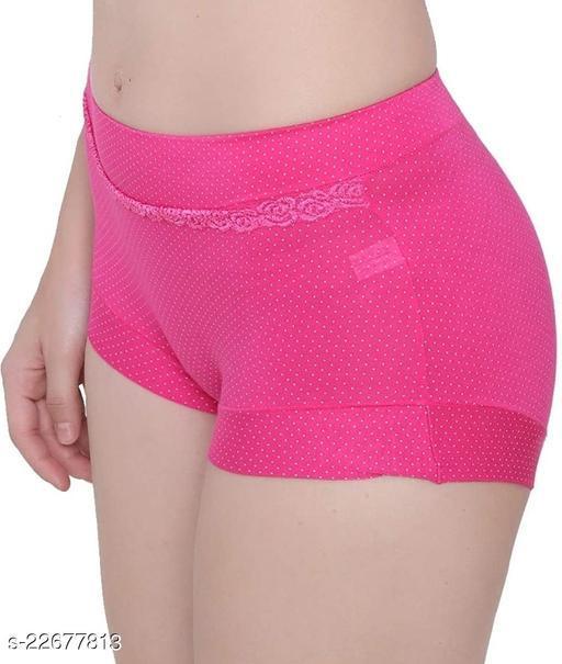 Women Hipster Pink Modal Panty