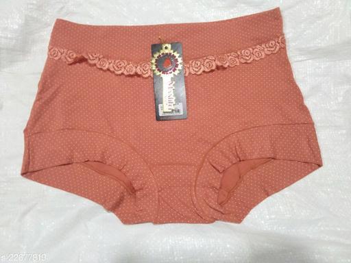 Women Hipster Orange Modal Panty