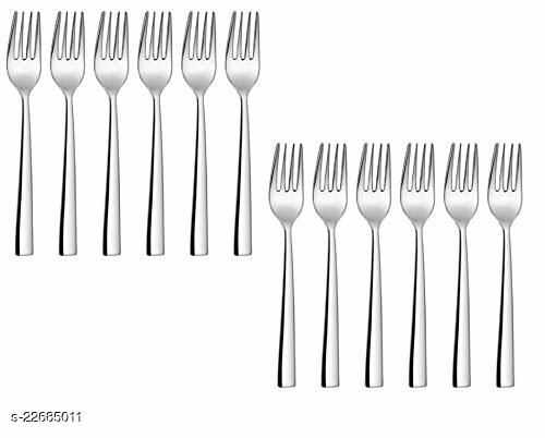 Stainless Steel Table Fork for Tea, Coffee, Sugar, Condiments & Spices - Set of 12