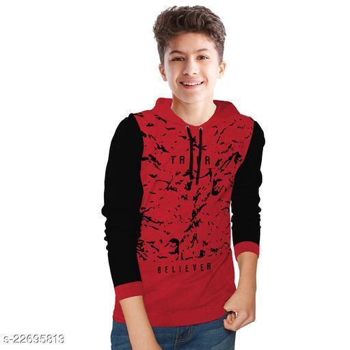 Boys Printed Cotton Blend T Shirt
