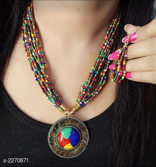 Beautiful Bead Work Jewellery Set