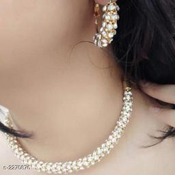 Women's Gold Plated American diamond Jewellery Set
