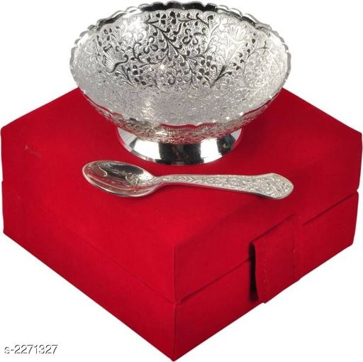 Stylish Metal Silver Plated Home Utility