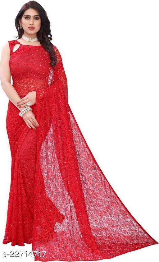 Women's Party Wear Rusell Net Saree