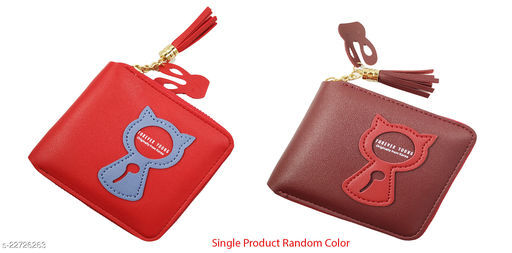 Beautiful Women's Combo Maroon PU Wallet