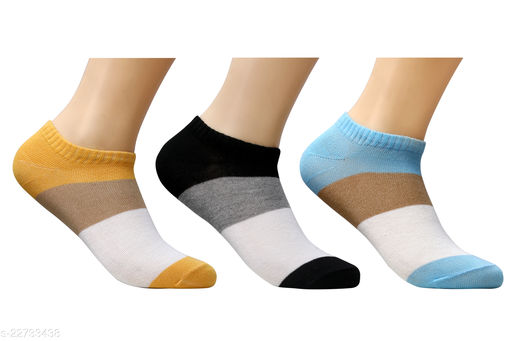 Pure Cotton Colorful Loafer Socks for Men & Women