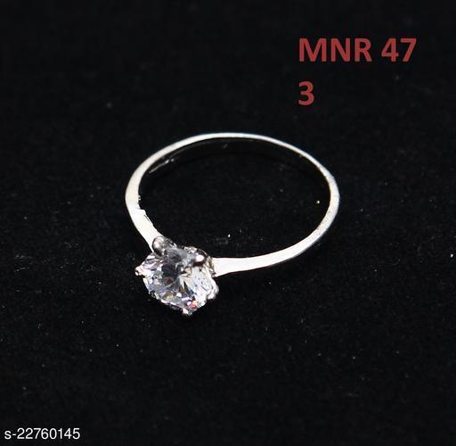 Beautiful Design Polki Ring Round Cubic Zircon White Indian Handmade Yellow Gold Plated Fashion Designer Jewellery for Girls Ladies Women MNR 47-WP