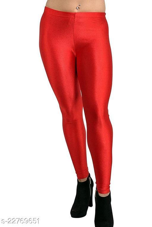 BEST SELLING WOMEN SKINY SHINING LEGGINGS RED