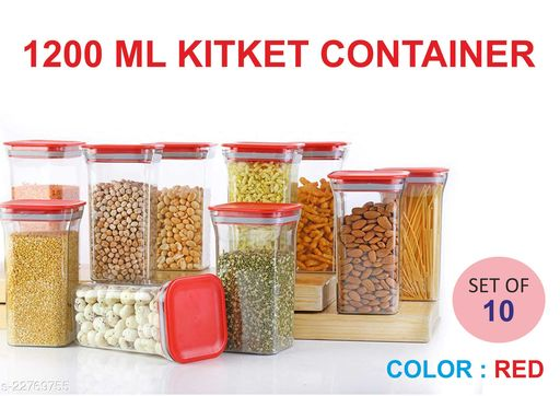 1200ML KITKET CONTAINER -RED-010