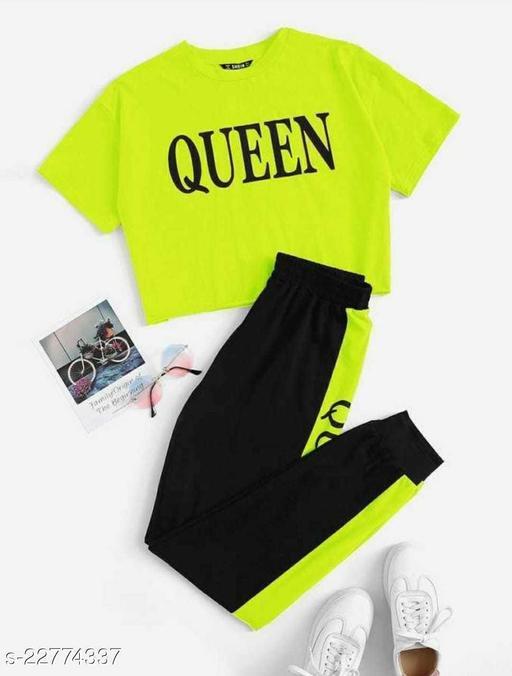 Venisha Fashion Rib Cotton Queen Track Suit for Women/Girls (Night Dress/Track Suit)